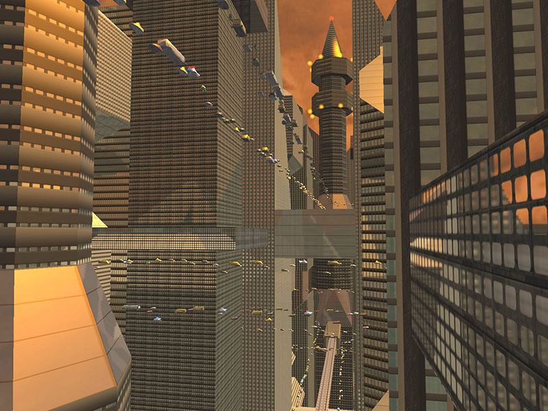 Sci-Fi Future City 3D Screensaver