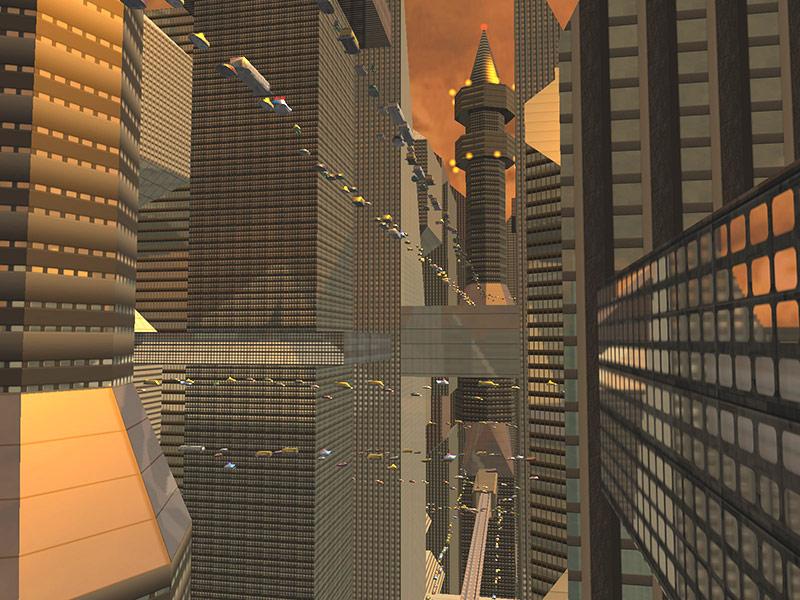 Sci-Fi Future City 3D Screensaver screen shot