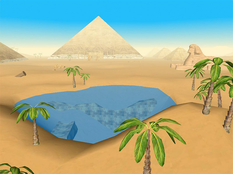 The Pyramids 3D for Mac OS X Screensaver