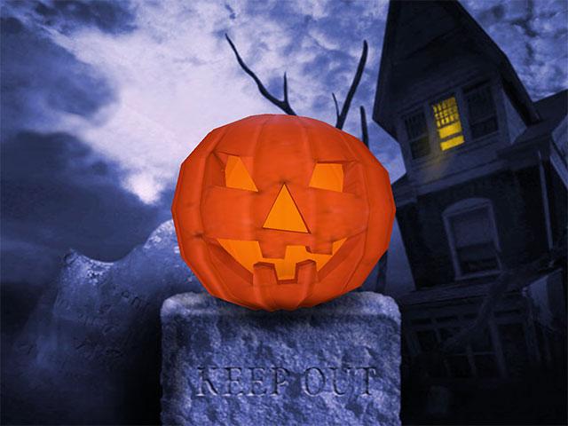 Halloween Gourd 3D Screensaver screen shot