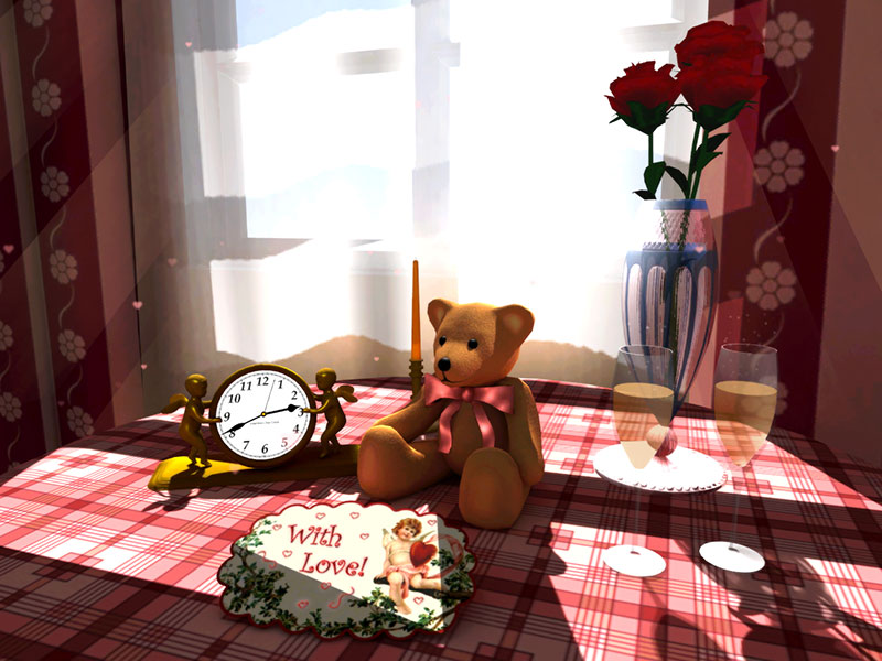 Saint Valentine's 3D Screensaver Screenshot