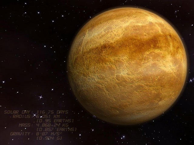 Venus 3D Space Survey Screensaver
